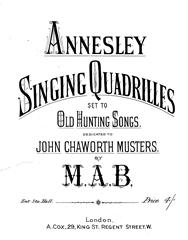 Singing Quadrilles Set To Old Hunting Songs