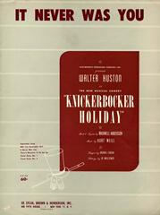 It Never Was You (from 'Knickerbocker Holiday')