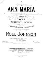 Ann Maria (from 'Cycle Of Three Doll Songs')