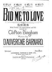Bid Me To Love