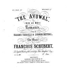The Avowal (Dis Le Moi)