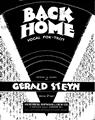 Back Home Sheet Music