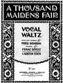 A Thousand Maidens Fair Sheet Music